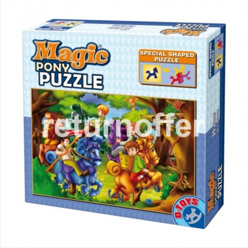 Magic pony puzzle 35 piese, Basme D-toys