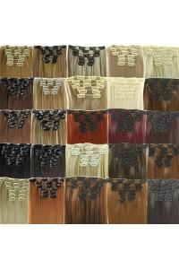 Extensie de par, set de 7 piese 22 inch diverse culori