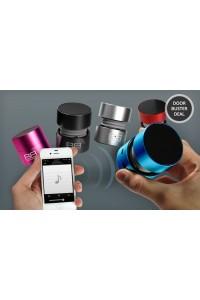 Difuzor portabil bluetooth BassBoomz Carbon negru