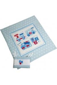 Paturica pentru bebe cu protectie pentru pat My Toybox Quilt 2 modele