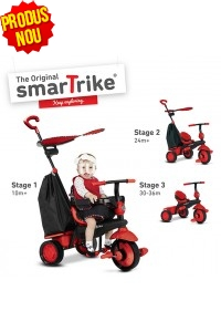 Tricicleta Smart Trike Delight, Red